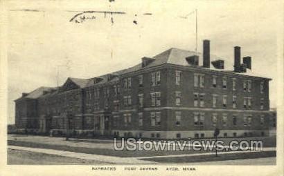 Barracks, Fort Devens - Ayer, Massachusetts MA Postcard