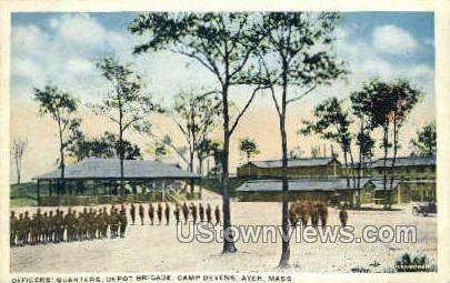 Officers' Quarters, Depot Brigade - Ayer, Massachusetts MA Postcard