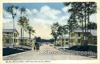 Weigel Blvd. Camp Devens - Ayer, Massachusetts MA Postcard