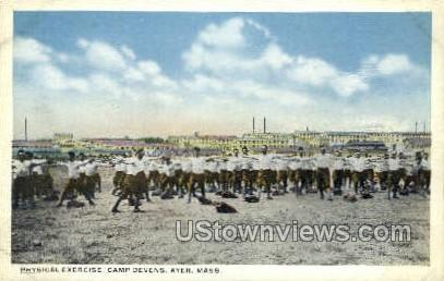 Physical Exercise, Camp Devens - Ayer, Massachusetts MA Postcard