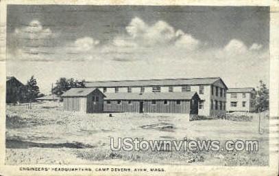 Enginers' Headquarters - Ayer, Massachusetts MA Postcard