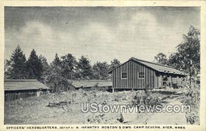 Officers' Headquarters - Ayer, Massachusetts MA Postcard