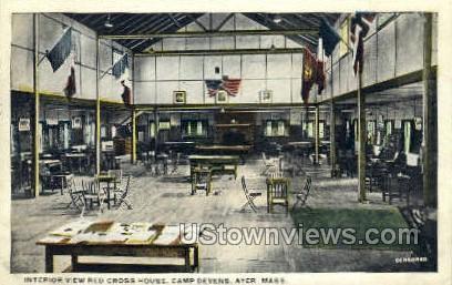 Interior, Red Cross House - Ayer, Massachusetts MA Postcard