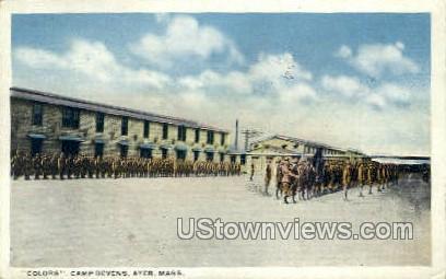 Colors, Camp Devens - Ayer, Massachusetts MA Postcard
