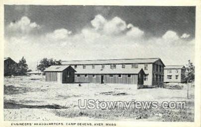 Engineers' Headquarters - Ayer, Massachusetts MA Postcard
