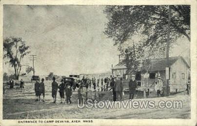 Entrance, Camp Devens - Ayer, Massachusetts MA Postcard