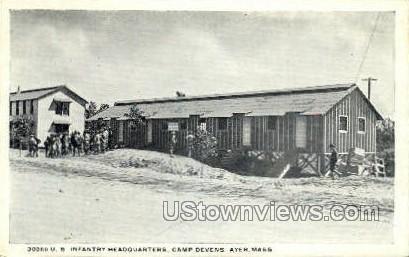 U.S. Infantry Headquarters - Ayer, Massachusetts MA Postcard