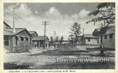 U.S. Field Artillery, Camp Devens - Ayer, Massachusetts MA Postcard