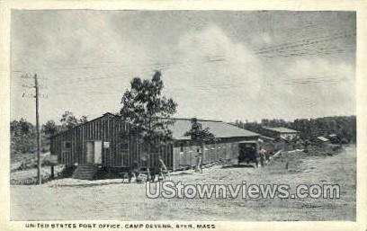 United States Post Office - Ayer, Massachusetts MA Postcard