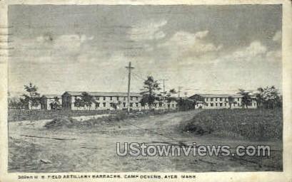 U.S. Field Artillery Barracks - Ayer, Massachusetts MA Postcard