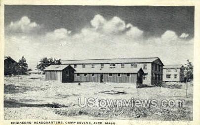 Engineers Headquarters - Ayer, Massachusetts MA Postcard