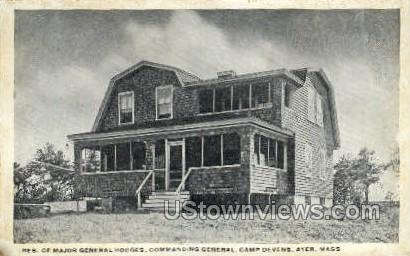 Commanding General - Ayer, Massachusetts MA Postcard