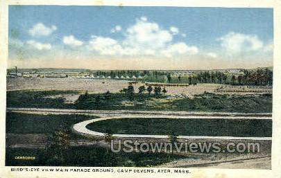 Main Parade Ground - Ayer, Massachusetts MA Postcard