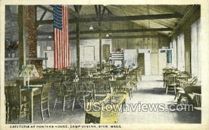 Cafeteria, - Ayer, Massachusetts MA Postcard