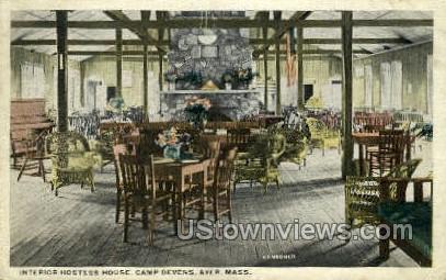 Hostess House, Camp Devens - Ayer, Massachusetts MA Postcard