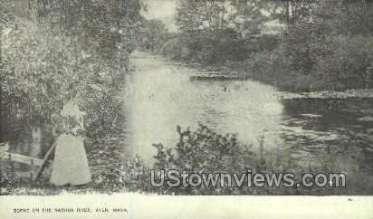Nashua River - Ayer, Massachusetts MA Postcard