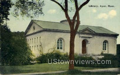 Library - Ayer, Massachusetts MA Postcard