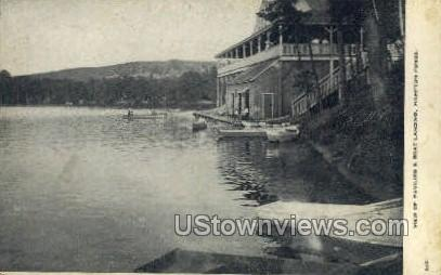 Pavilion & Boat Landing - Ayer, Massachusetts MA Postcard