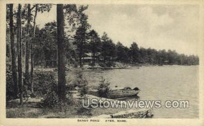 Sandy Pond - Ayer, Massachusetts MA Postcard