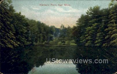 Harden's Pond - Ayer, Massachusetts MA Postcard
