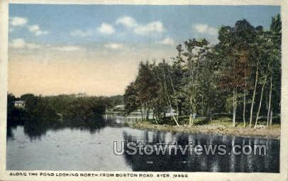 Pond - Ayer, Massachusetts MA Postcard