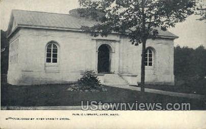 Public Library - Ayer, Massachusetts MA Postcard