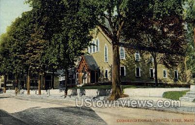 Congregational Chruch - Ayer, Massachusetts MA Postcard