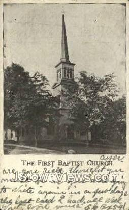 The First Baptist Church - Ayer, Massachusetts MA Postcard