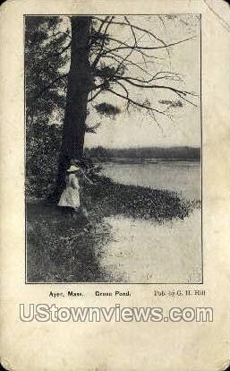 Grove Pond - Ayer, Massachusetts MA Postcard