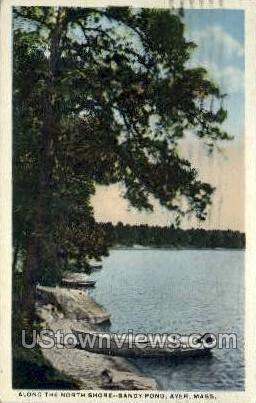 North Shore, Sandy Pond - Ayer, Massachusetts MA Postcard