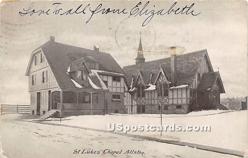 St Lukes Chapel - Allston, Massachusetts MA Postcard