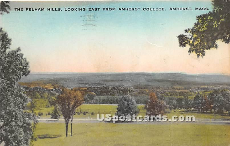 The Pelham Hills looking east from Amherst College - Massachusetts MA Postcard