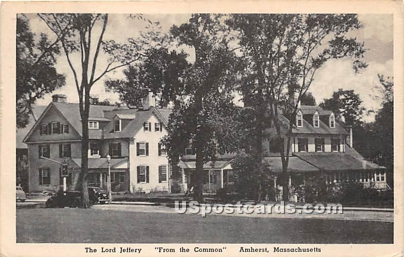 The Lord Jeffery from the Common - Amherst, Massachusetts MA Postcard