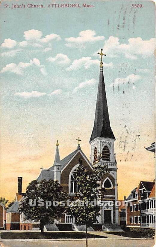 St John's Church - Attleboro, Massachusetts MA Postcard