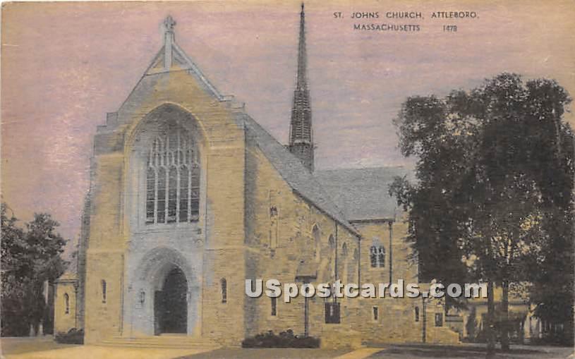Johns Church - Attleboro, Massachusetts MA Postcard