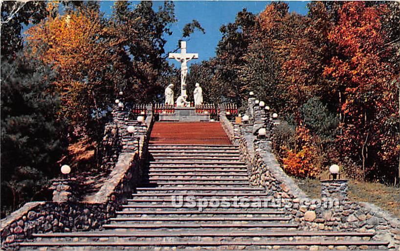 Scala Santa Shrine of Our Lady of La Saleete - Attleboro, Massachusetts MA Postcard