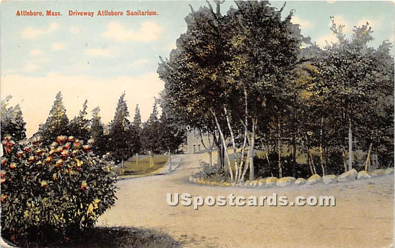 Driveeway Attleboro Sanitarium - Massachusetts MA Postcard