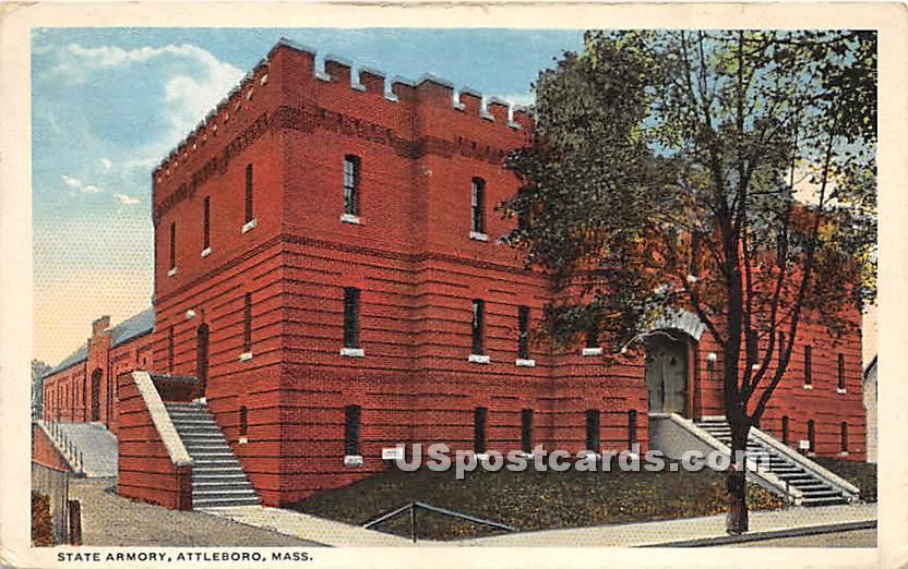 State Armory - Attleboro, Massachusetts MA Postcard
