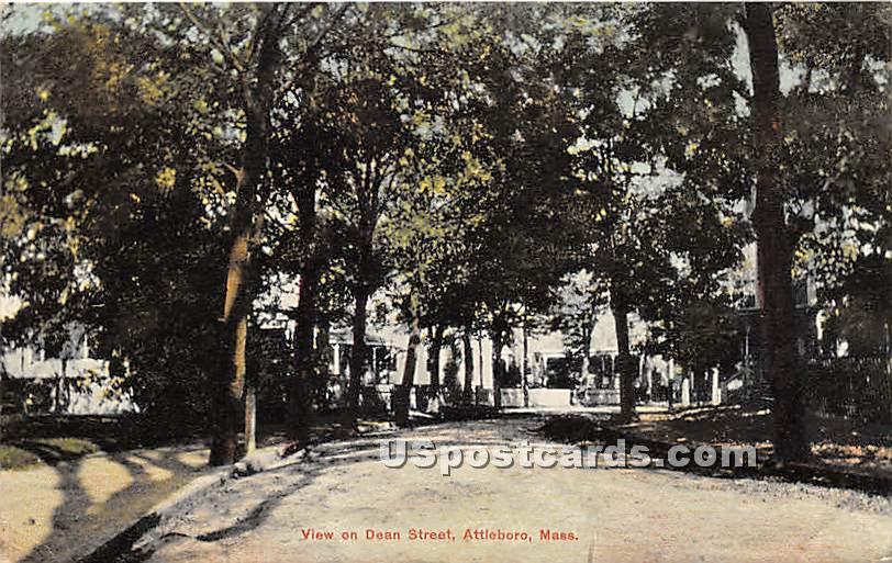 View on Dean Street - Attleboro, Massachusetts MA Postcard