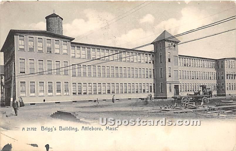 Brigg's Building - Attleboro, Massachusetts MA Postcard
