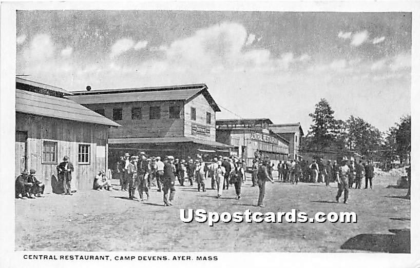 Central Restaurant at Camp Devens - Ayer, Massachusetts MA Postcard