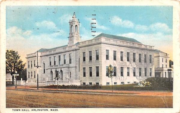 Town Hall Arlington, Massachusetts Postcard
