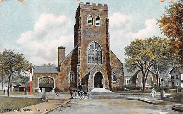 First Baptist Church Arlington, Massachusetts Postcard