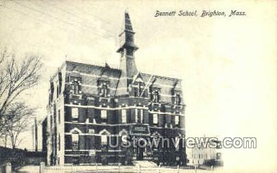 Bennett School - Brighton, Massachusetts MA Postcard