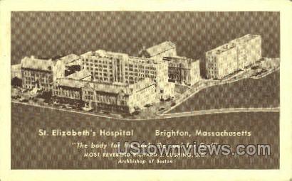 St. Elizabeth's Hospital - Brighton, Massachusetts MA Postcard