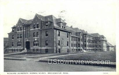 Woodard Dormitory - Bridgewater, Massachusetts MA Postcard