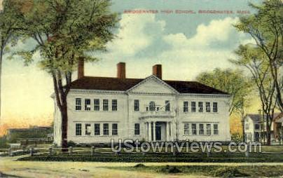 Bridgewater High School - Massachusetts MA Postcard