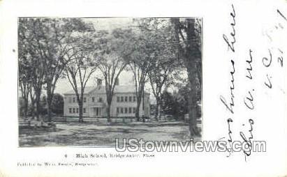 High School - Bridgewater, Massachusetts MA Postcard