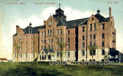 St. John's Seminary - Brighton, Massachusetts MA Postcard