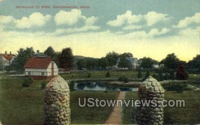 Entrance, Park - Bridgewater, Massachusetts MA Postcard